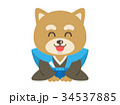 犬 ベクター 年賀状素材のイラスト 34537885
