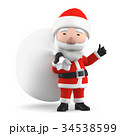 クリスマス サンタ サンタクロースのイラスト 34538599