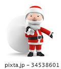 クリスマス サンタ サンタクロースのイラスト 34538601