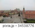 ワルシャワ 街並み 12月の写真 34538776