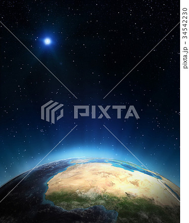 North-west Africa 3d rendering planet 34542230