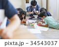 小学生 学童保育 図画工作の写真 34543037