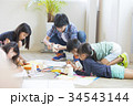 小学生 学童保育 図画工作の写真 34543144