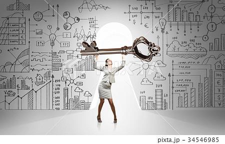 Find key to successの写真素材 [34546985] - PIXTA