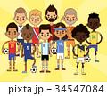 ベクトル サッカー ボールのイラスト 34547084