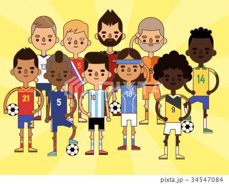 National Euro Cup soccer football teams vector 34547084