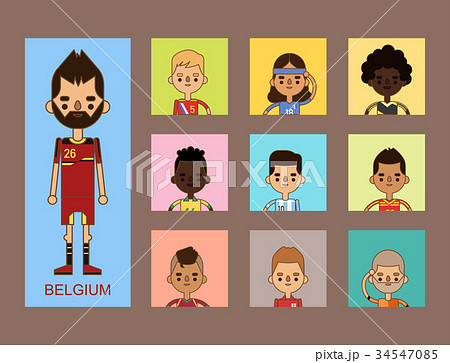 National Euro Cup soccer football teams vector 34547085