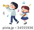 男の子 女の子 楽器① 34555936