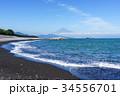 景色 富士山 海の写真 34556701