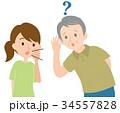 耳の遠いおじいちゃん 34557828