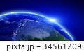 地球 スペース 空間のイラスト 34561209