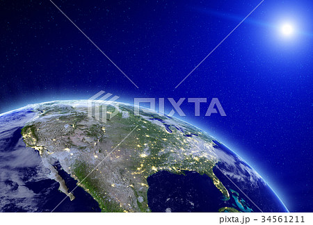 City lights - USA 3d rendering 34561211