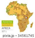 アフリカ アフリカ大陸 地図のイラスト 34561745