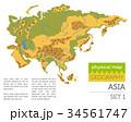アジア圏 地図 ベクトルのイラスト 34561747