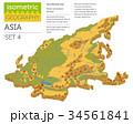 アジア圏 地図 ベクトルのイラスト 34561841