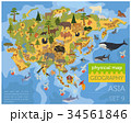 Flat Asian flora and fauna map constructor element 34561846