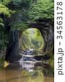 濃溝の滝 滝 亀岩の洞窟の写真 34563178