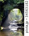 濃溝の滝 滝 亀岩の洞窟の写真 34563182