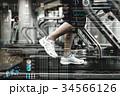 トレーニング ジム ランニングマシンの写真 34566126