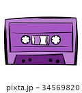Music-cassette or tape icon cartoon 34569820