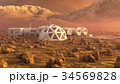 Mars planet satellite station orbit base martian 34569828