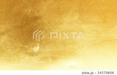 Shiny yellow leaf gold foil 34579606