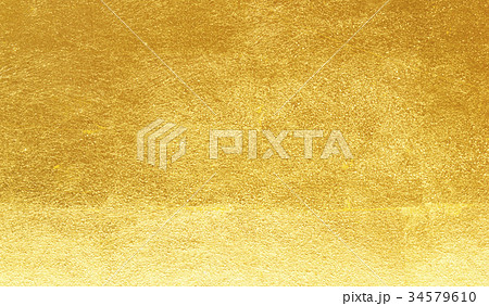 Shiny yellow leaf gold foil 34579610
