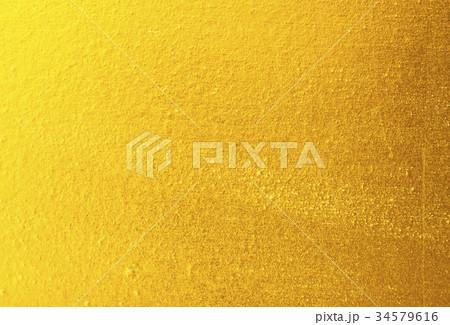 Shiny yellow leaf gold foil 34579616