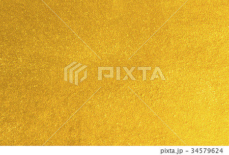 Shiny yellow leaf gold foil 34579624