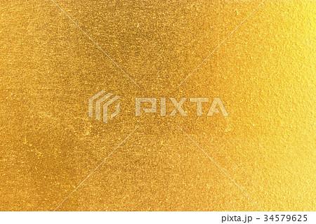 Shiny yellow leaf gold foil 34579625