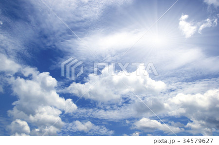 blue sky with clouds 34579627