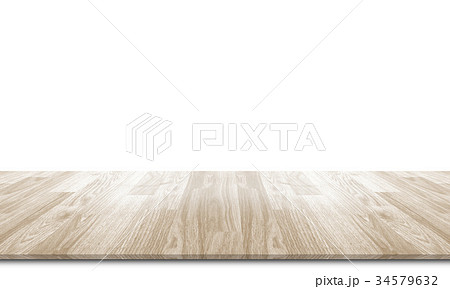 Wooden floor isolated on a white 34579632