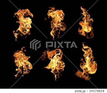 Fire flames collection 34579658