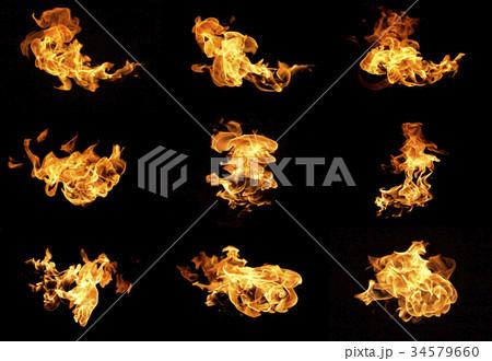 Flame heat fire 34579660