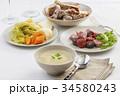 煮込み 料理 皿の写真 34580243
