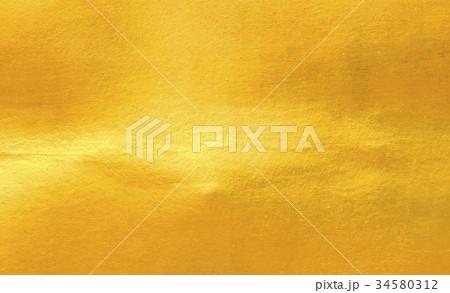 Shiny yellow leaf gold foil 34580312
