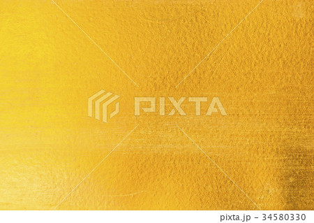 Shiny yellow leaf gold foil 34580330