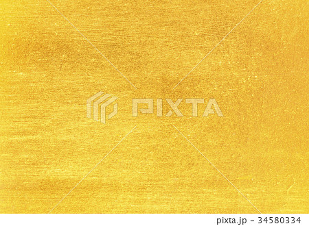 Shiny yellow leaf gold foil texture 34580334