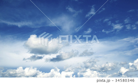 Blue sky white clouds 34580346
