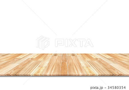 Wooden floor isolated 34580354