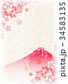 桜 富士山 和柄のイラスト 34583135