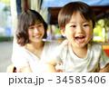 笑顔の親子 34585406