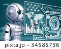 IoT ロボット CGのイラスト 34585736