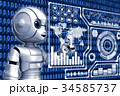 IoT ロボット サイバーのイラスト 34585737
