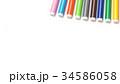 Multicolored Felt Tip Pens on White Background. 34586058