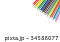 Multicolored Felt Tip Pens on White Background. 34586077