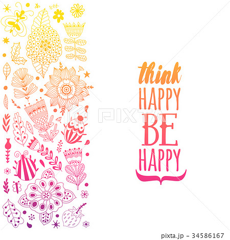 Vector Illustration made of flowers and herbs 34586167