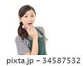 驚く ビックリ 女性の写真 34587532