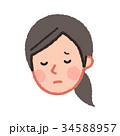 女性 人物 顔のイラスト 34588957