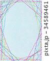 水彩テクスチャー 刺繍 フレーム 34589461